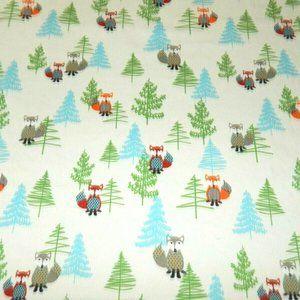 JC Penny Winter Holiday Fox Twin Flat Sheet